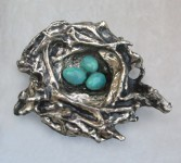 Bronze Nest & Eggs  (artist - Beckie Bass)