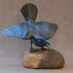 Raven On Stone