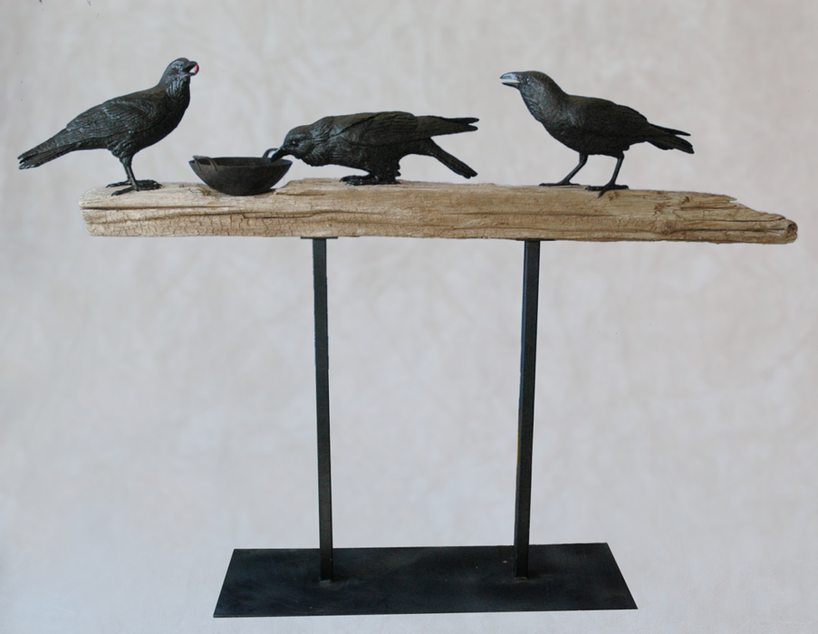 Ravens on Beam, Wok
