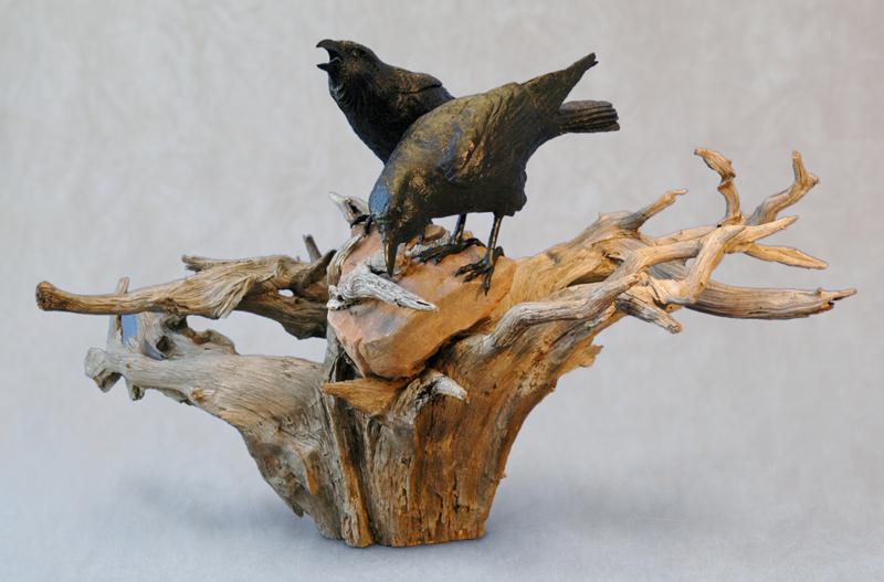 Ravens on Tree & Stone